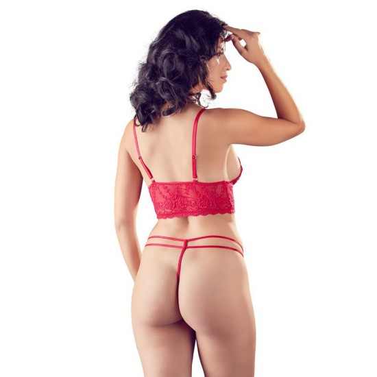 Cottelli Red Lace Bra And String