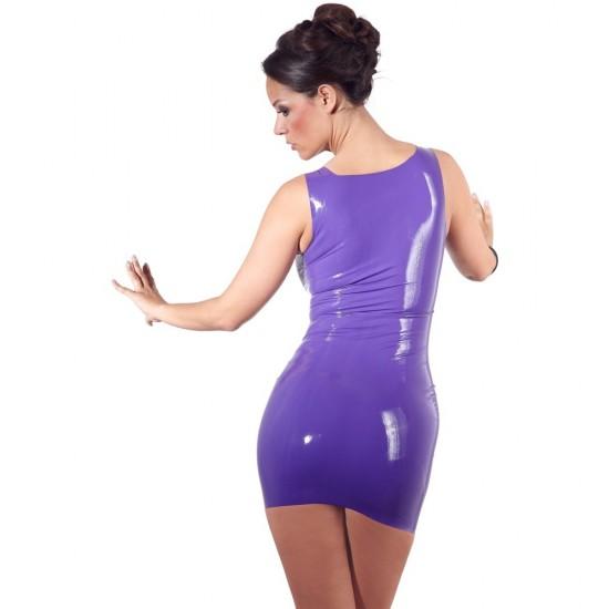 Latex Mini Dress Purple
