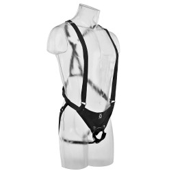 King Cock 11 Inch Hollow Strap On Suspender System