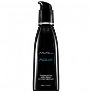 Wicked Aqua Fragrance Free Waterbase Lubricant 60mls
