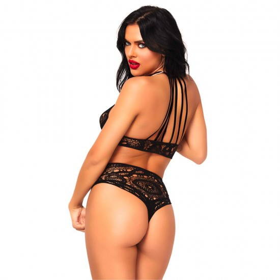 Leg Avenue Lace Top And High Waist String