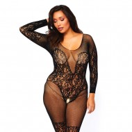 Leg Avenue Vine Lace And Net Bodystocking UK 18 to 22