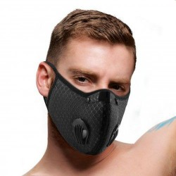 Quarantined Black Fashion Face Mask