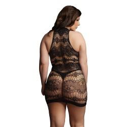 Le Desir Black Criss Cross Neck Mini Dress UK 14 to 20
