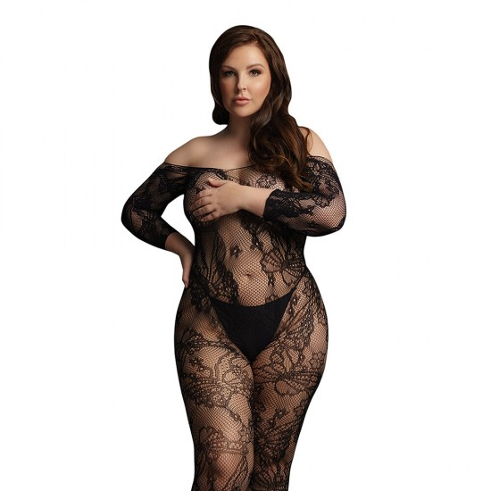 Le Desir Lace Sleeved Bodystocking UK 14 to 20