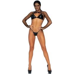 KINK Bikini Top GString and Shrug UK 8 to 14