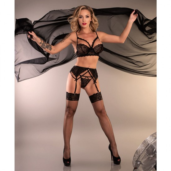 Corsetti Moridam Matching Bra String and Suspender Belt
