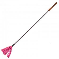 Rouge Garments Riding Crop With Wooden Handle Pink