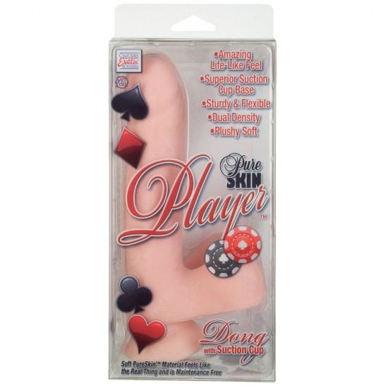 Pure Skin Player 6.25 Inches Penis Dong With Suction Cup Flesh