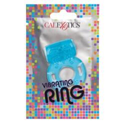 Foil Pack Vibrating Cock Ring Blue