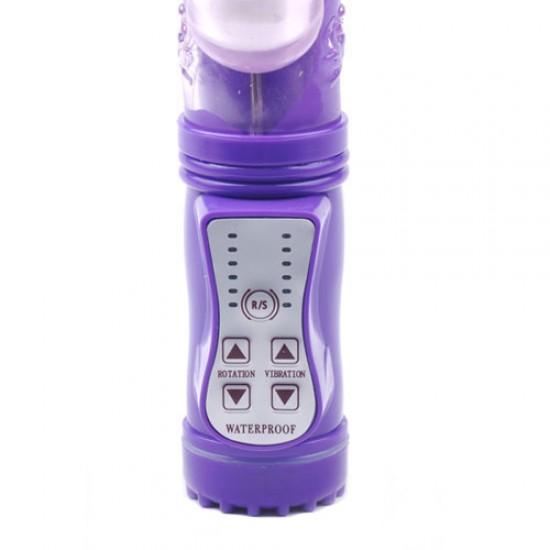 Rabbit Vibrator With Thrusting Motion Purple