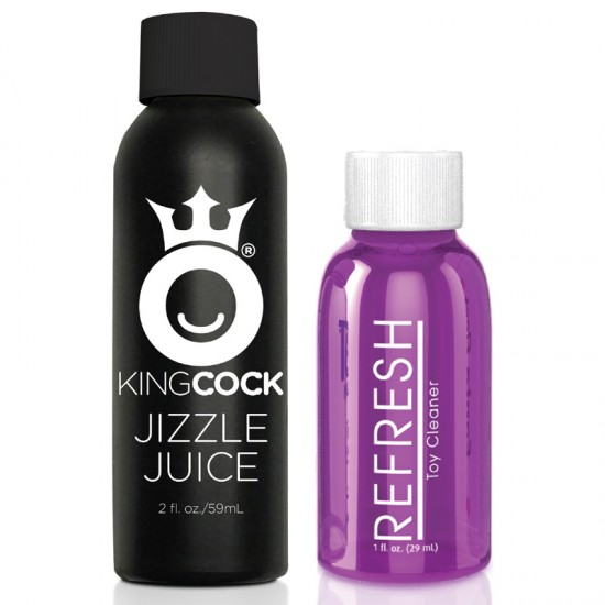 King Cock 9 Inch Squirting Dildo With Balls Flesh