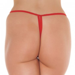 Red Crotchless GString