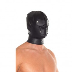 Leather Full Face Mask With Detachable Blinkers