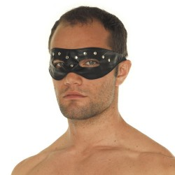 Leather Open Eye Mask With Rivets