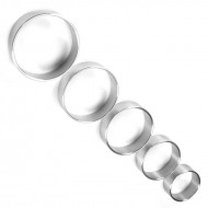 Thin Metal 1.5 inches Diameter Wide Cock Ring