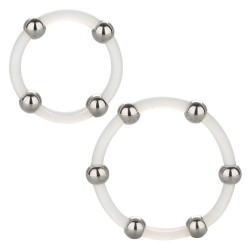 Steel Beaded Silicone Ring Set